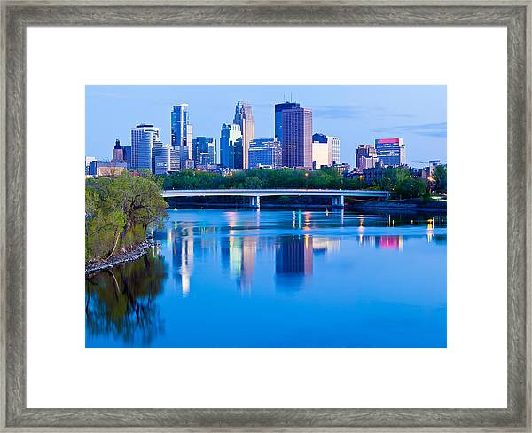Mississippi And Minneapolis Framed Print