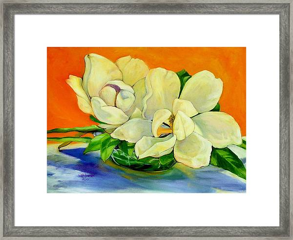 Mississippi Magnolias Framed Print