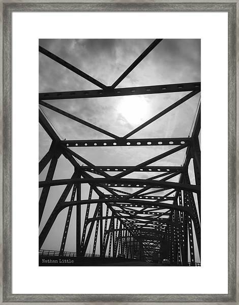 Mississippi River Bridge Framed Print