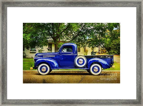 Missoula Blue Truck Framed Print