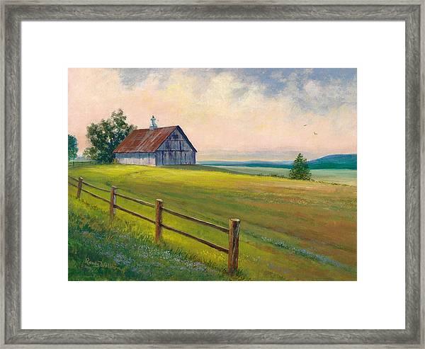 Missouri Barn Framed Print