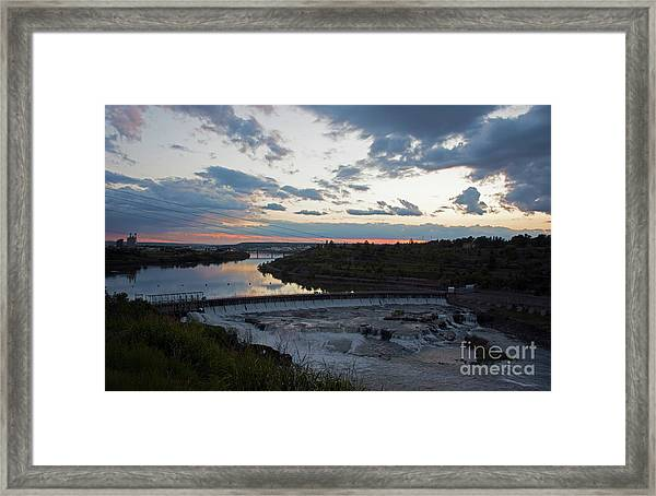 Missouri River Black Eagle Falls Mt Framed Print
