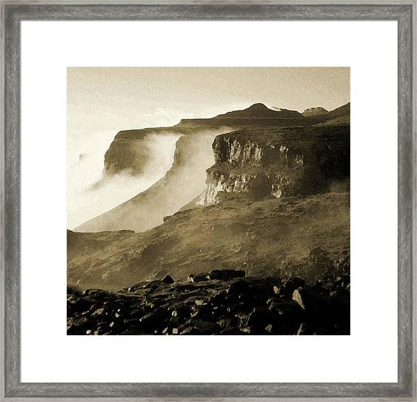 Mist In Lesotho Framed Print