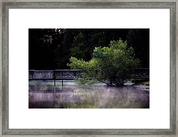 Mist On The Water Framed Print