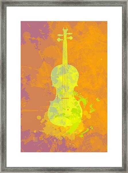 Mist Violin Framed Print