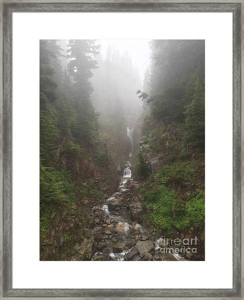 Misted Waterfall Framed Print