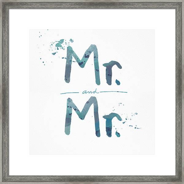 Mister And Mister  Framed Print