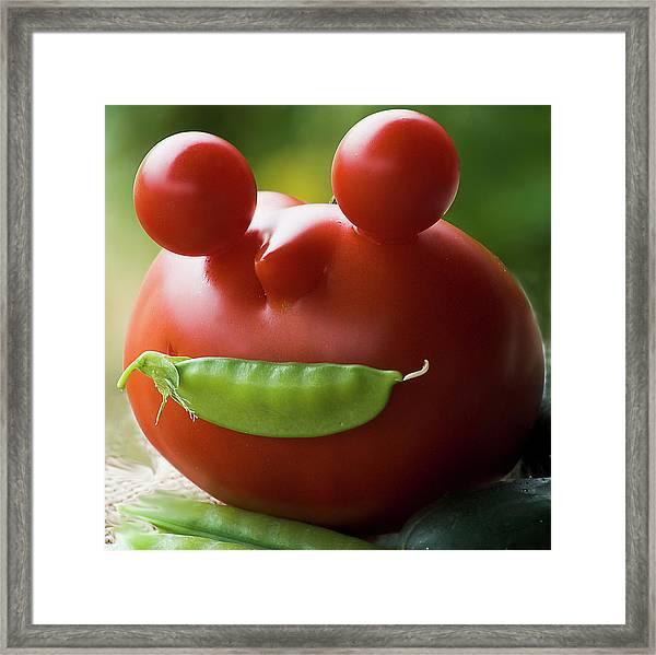Mister Tomato Framed Print