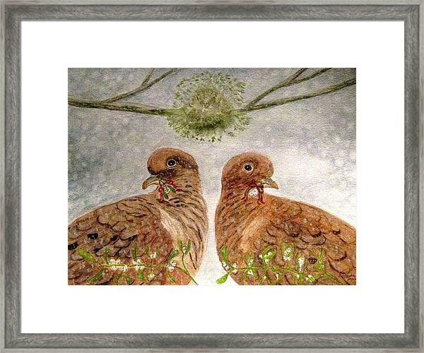 Mistletoe Magic Framed Print