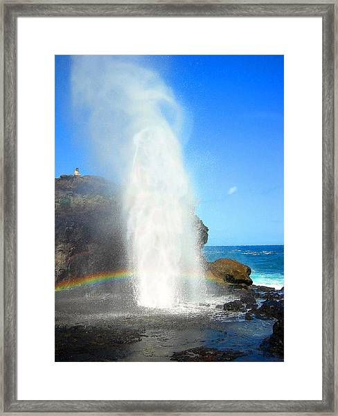 Mists Of Nakalele Framed Print
