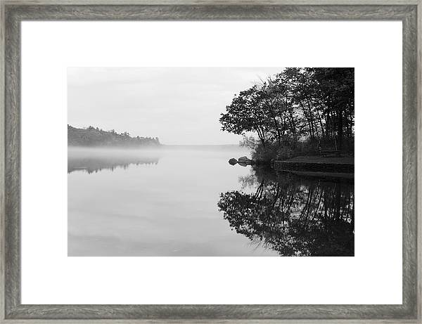 Misty Cove Framed Print