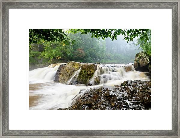 Misty Creek Framed Print