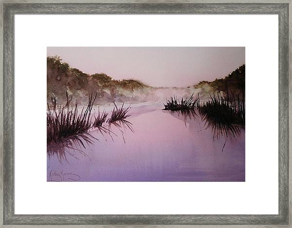 Misty Dawn Framed Print