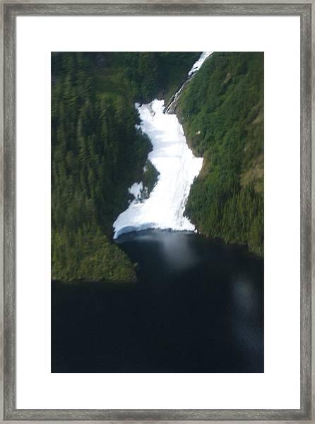 Misty Fjord Ice Falls Framed Print