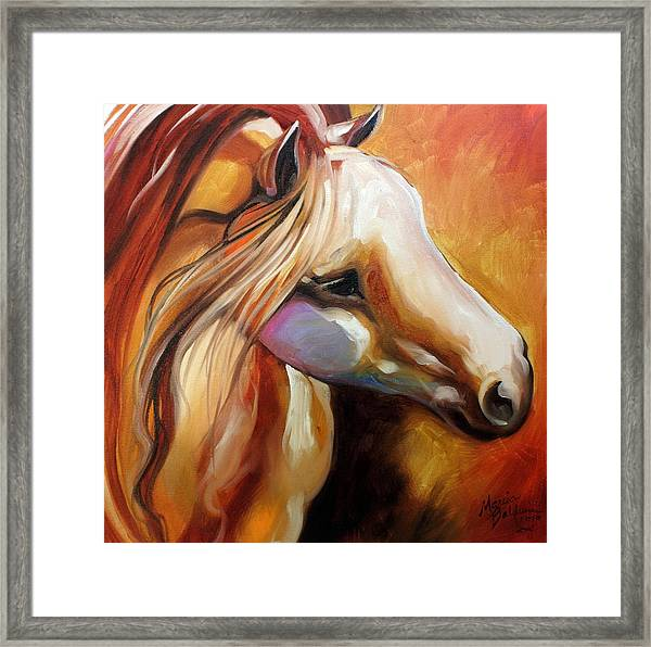 Misty Moonlight Equine Framed Print by Marcia Baldwin