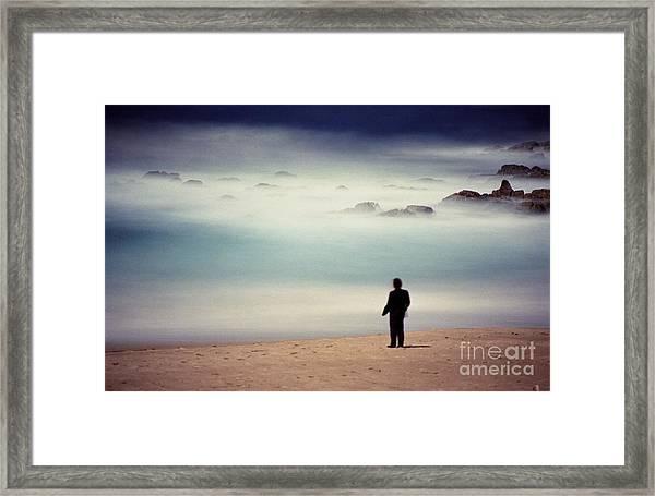 Misty Moonlight Framed Print