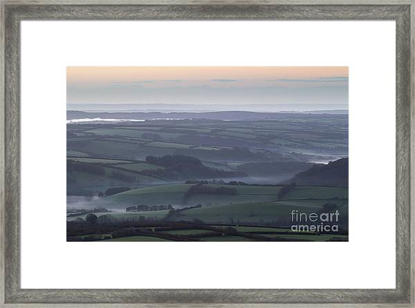 Misty Morning On Exmoor  Framed Print