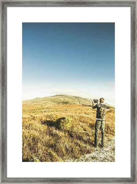 Misty Mountain Travels Framed Print