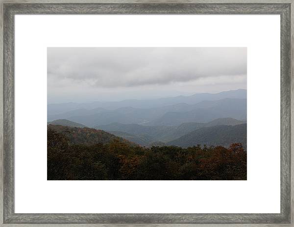 Misty Mountains More Framed Print