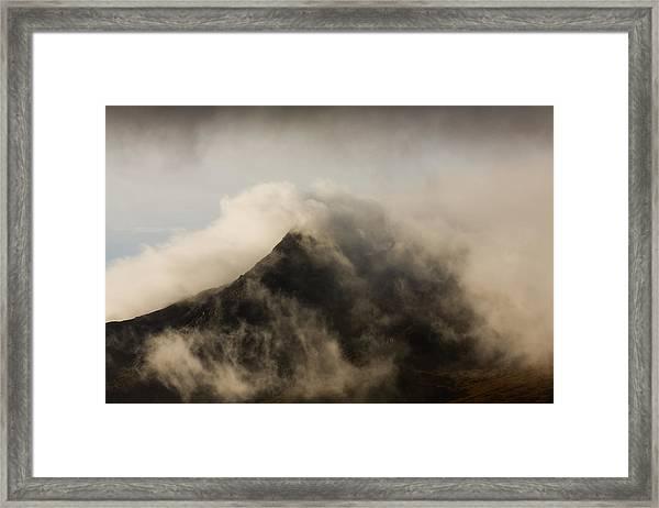 Misty Peak Framed Print