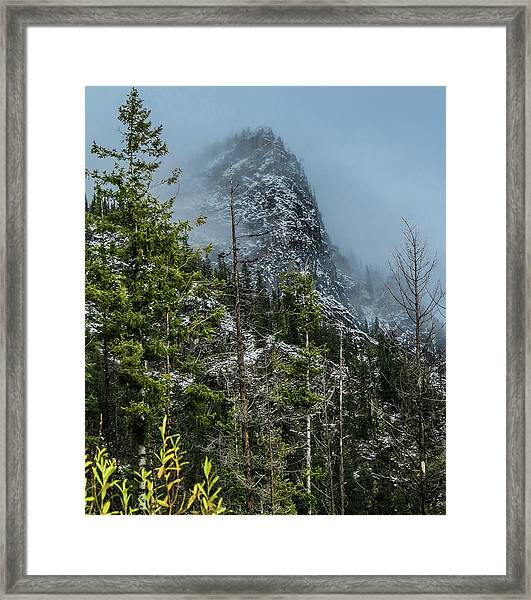 Misty Pinnacle Framed Print