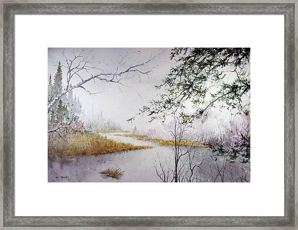 Misty  River Morning Framed Print