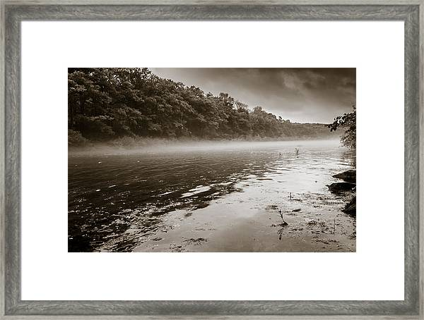 Misty River Framed Print