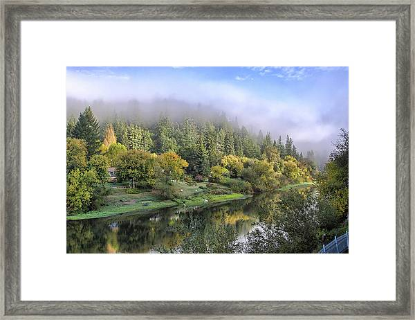 Misty Russian River Framed Print