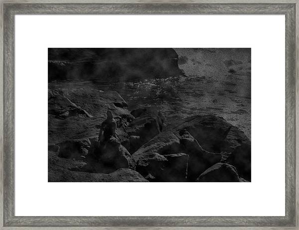 Misty Sea Framed Print