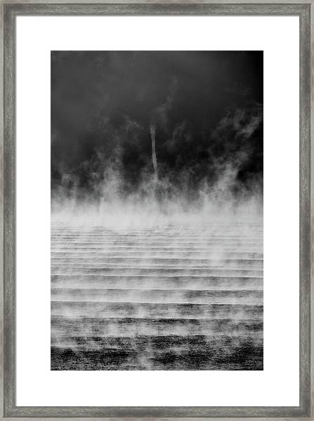 Misty Twister Framed Print