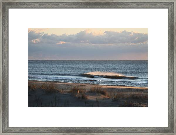 Misty Waves Framed Print