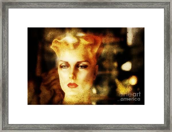 Misty Woman Framed Print