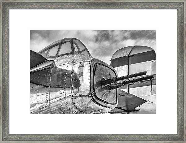 Mitchell Tail Guns Framed Print