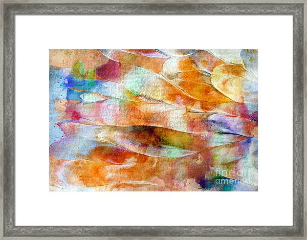 Framed Print featuring the painting Mixed Media Abstract  B31015 by Mas Art Studio