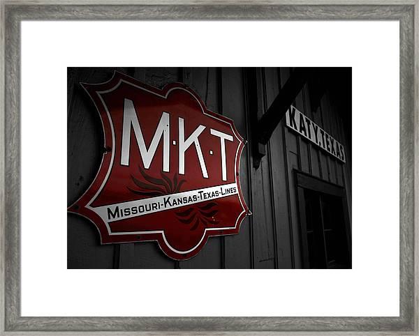 Mkt Railroad Lines Framed Print