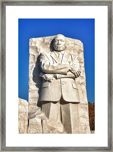 Mlk Memorial In Color Framed Print