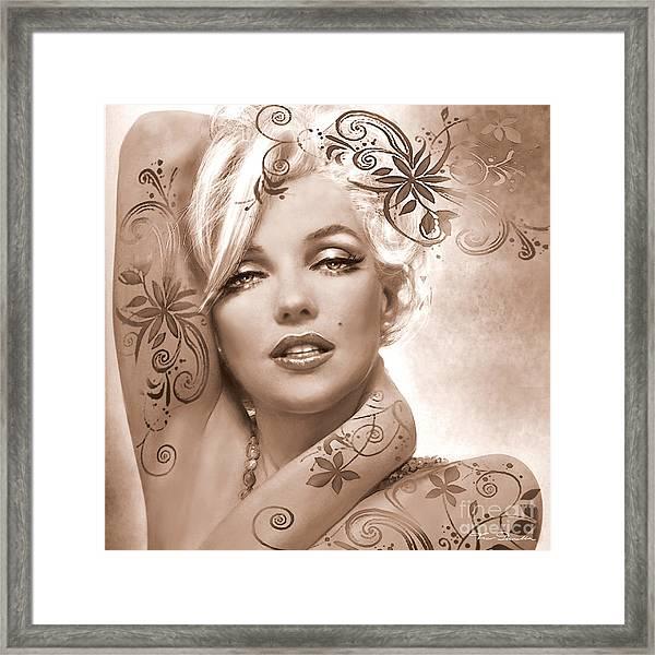 Mm 127 Deco Sepia Framed Print