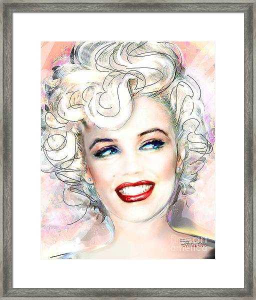 Mmother Of Pearl P Framed Print