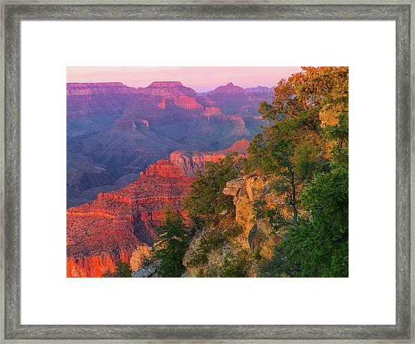 Canyon Dusk Framed Print