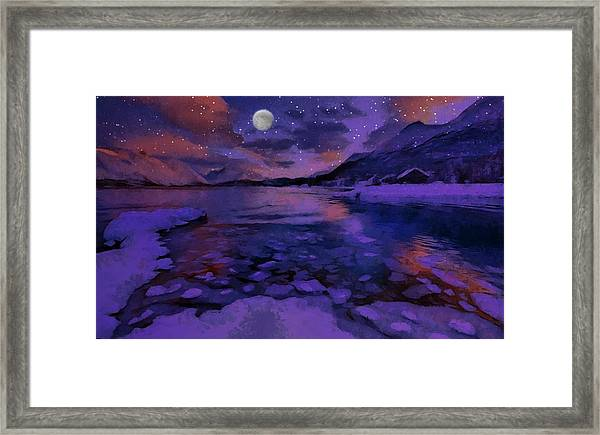 Mnon Over The Frozen Lands Framed Print