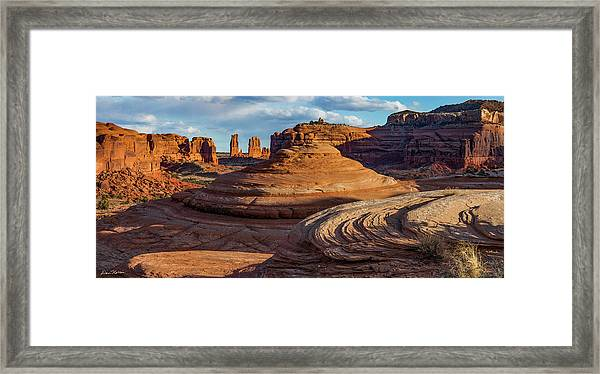Moab Back Country Panorama 2 Framed Print