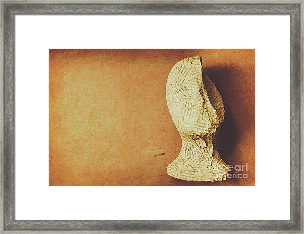 Modelling The Right Brain Intellect Framed Print