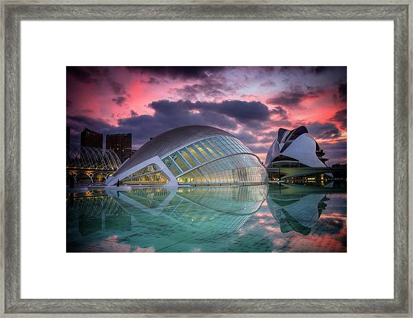 Modern Architecture In Valencia  Framed Print