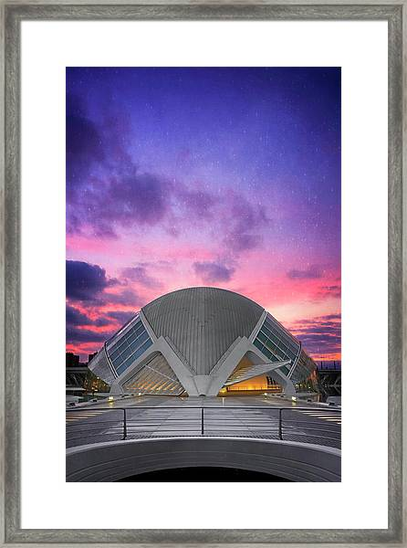 Modern Architecture Of Valencia Spain  Framed Print