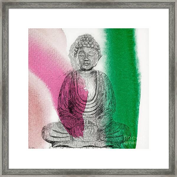Modern Buddha Framed Print