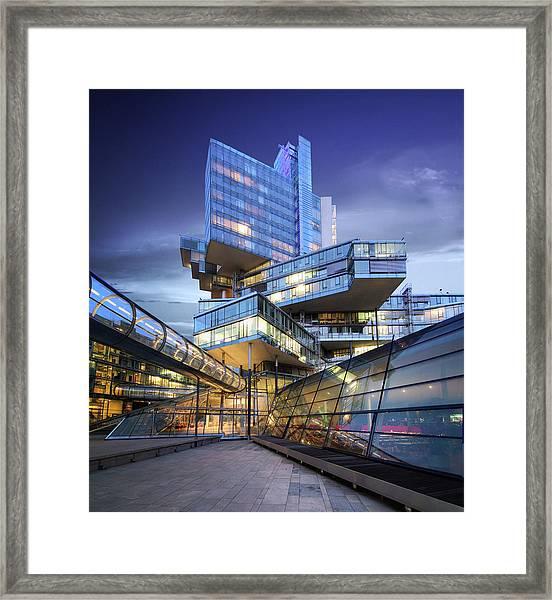 Modern City Lights Framed Print
