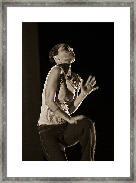 Framed Print featuring the photograph Modern Dance 12 by Catherine Sobredo