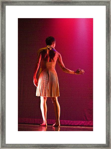 Framed Print featuring the photograph Modern Dance 17 by Catherine Sobredo