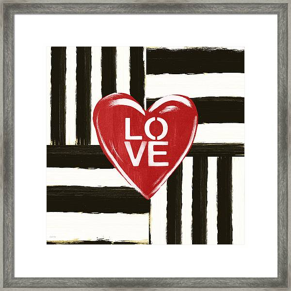 Modern Love- Art By Linda Woods Framed Print