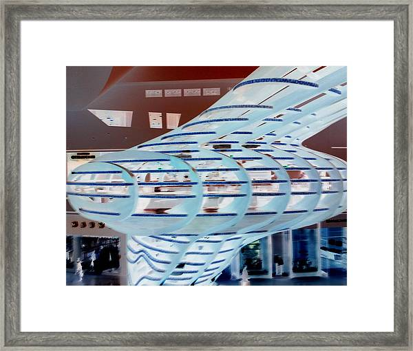 Ghostly Shopping Mall Framed Print